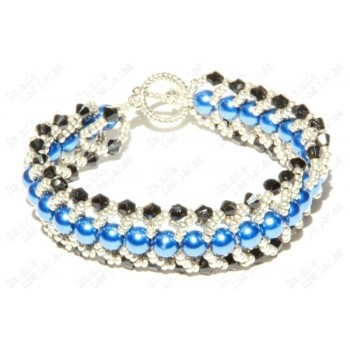 Bracelet chic noir & bleu