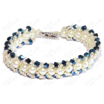 Bracelet chic bleu & blanc