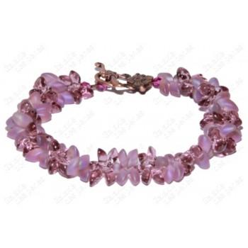 Bracelet fleur violet