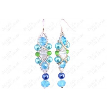 Boucles ALL CRISTAL turquoise