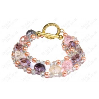 Bracelet diamants multicolore